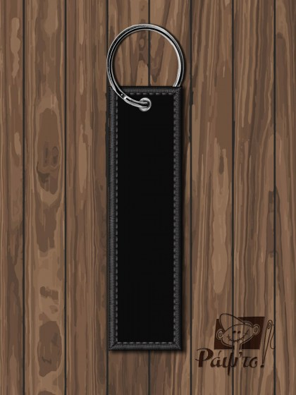 EMBROIDERED-KEYRING_BLACK-PVC